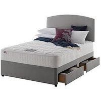 Product photograph showing Rest Assured Eton Memory 800 Divan Bed With Storage Options - Medium