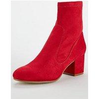 Head over Heels Head Over Heels Ohanna Block Heel Ankle Boot, Red, Size 3, Women