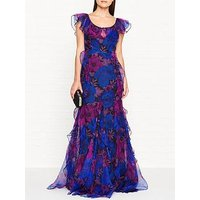 Alice Mccall Flora Organza Maxi Dress - Navy/Fuchsia