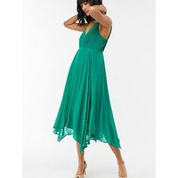 Monsoon Silvana Hanky Hem Dress - Green
