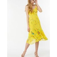 Monsoon Hermosa Embellished Midi Dress - Yellow