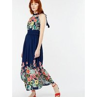 Monsoon Rosaline Print Midi Dress - Navy