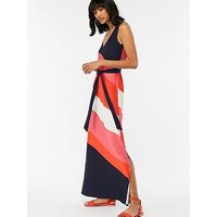 Monsoon Monsoon Cece Colourblock Maxi Dress - Shorter Length