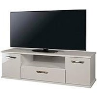 Swift Neptune Ready Assembled Grey High Gloss Tv Unit - Fits Up To 64 Inch Tv (10 Day Delivery Service)