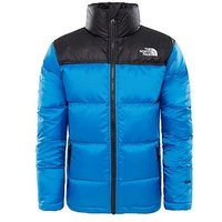 THE NORTH FACE Boys Nuptse Down Jacket, Blue, Size M=10-12 Years