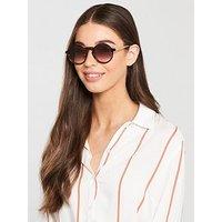 McQ Alexander McQueen Round Sunglasses - Havana, Havana, Women