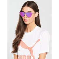 Puma Mirror Sunglasses - Pink, Pink, Women