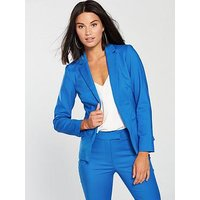 V by Very Statement Fashion Jacket - Blue, Blue, Size 14, Women