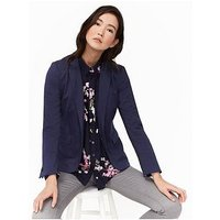 Joules Mollie Soft Jersey Blazer - French Navy , French Navy, Size 10, Women