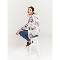 Joules Coast Floral Coat - Printed, Floral, Size 8, Women