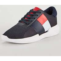Tommy Hilfiger Lightweight Colour Blocked Flag Sneakers - Multi, Navy Multi, Size 36, Women