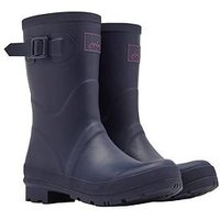 Joules Kelly Mid Height Matt Welly - Navy, Navy, Size 7, Women