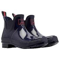 Joules Wellibob Gloss Ankle Welly, Navy, Size 4, Women