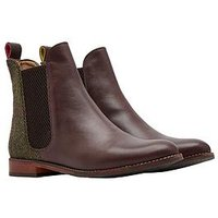 Joules Westbourne Leather Chelsea Boot - Brown/Green, Green, Size 5, Women