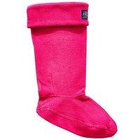 Joules Joules Z_Welton Welly Sock - Pink , Ruby, Size 3-4, Women
