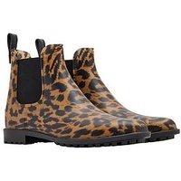 Joules Y_rockingham Chelsea Welly Boot, Leopard, Size 6, Women