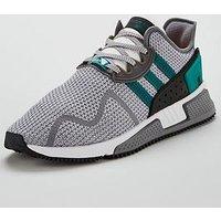 adidas Originals EQT Cushion ADV, Grey/Green/White, Size 6, Men