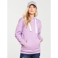 V by Very Oversized Hoodie - Lilac, Lilac, Size 14, Women
