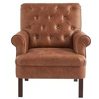 Kit Faux Leather Accent Chair