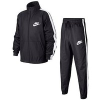 Nike Older Boys Woven Tracksuit - Black, Dark Grey, Size S=8-10 Years