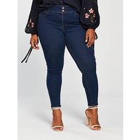 V by Very Curve Body Sculpt High Rise Skinny Jean, Indigo, Size 18, Women