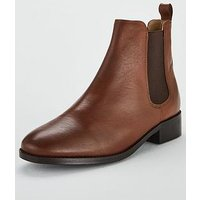 OFFICE Bramble Leather Ankle Boot - Tan, Tan Leather, Size 6, Women