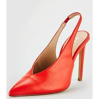 OFFICE Hix Slingback Heel - Orange , Orange, Size 5, Women