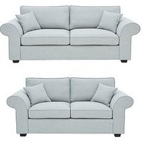 Product photograph showing Victoria Fabric 3 Seater 2 Seater Sofa Set Buy And Save