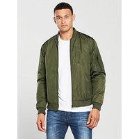 V by Very Bomber Jacket - Khaki, Khaki, Size S, Men