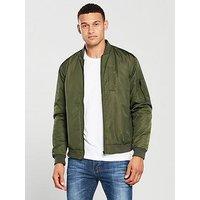 V by Very Bomber Jacket, Khaki, Size S, Men