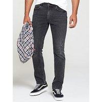 V by Very Slim Rip Detail Grey Jean, Grey Wash, Size 32, Inside Leg Regular, Men