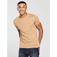 V by Very CREW NECK TEE, Tan, Size 3Xl, Men