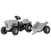 Rolly Toys Rolly Kid Little Grey Fergie Tractor &Amp; Trailer