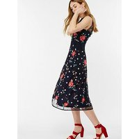 Monsoon Elsie Embellished Midi Dress - Navy