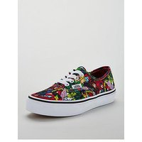 Vans Vans Authentic Marvel Multi Junior Trainer, Multi, Size 1