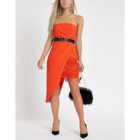 Ri Petite Asymmetric Bodycon Dress - Red