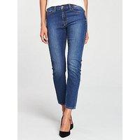 BOSS Roseville Slim High Rise Denim Jean - Blue, Blue, Size 30, Women