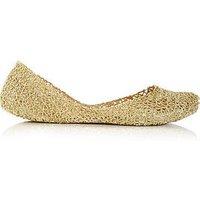 Melissa Campana Papel 20 Glitter Ballet Flats-Gold