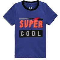 Boys, Mini V by Very Super Cool Reversible Sequin T-Shirt, Blue, Size Age: 12-18 Months
