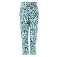 Monsoon Elena Printed Trouser, Lime, Size Age: 5-6 Years, Women