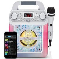 Groove Mini - Disco Light Mp3+G Karaoke System With Voice Changer Effects &Ndash; White