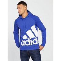 adidas SMU Hoodie - Blue, Blue, Size L, Men