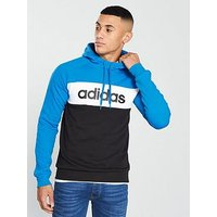 adidas SMU Tri Block Panel OTH Hoodie, Blue, Size L, Men
