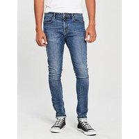 V by Very Skinny Mid Wash Jean, Midwash, Size 34, Inside Leg Regular, Men