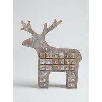 Gisela Graham Reindeer 3D Christmas Advent Calendar Room Decoration