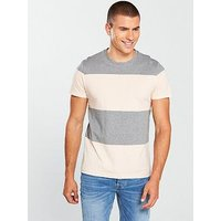 V by Very Block Stripe Tee, Multi, Size Xs, Men