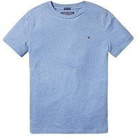 Tommy Hilfiger Boys Essential Flag Tshirt, Dark Grey Heather, Size 5 Years