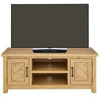 Ideal Home Ready Assembled Parquet Tv Unit - Fits Up To 50 Inch Tv