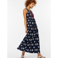 Monsoon Joceline Jersey Maxi Dress - Navy