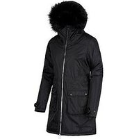Regatta Lucaster Waterproof Parka - Black, Black, Size 12, Women